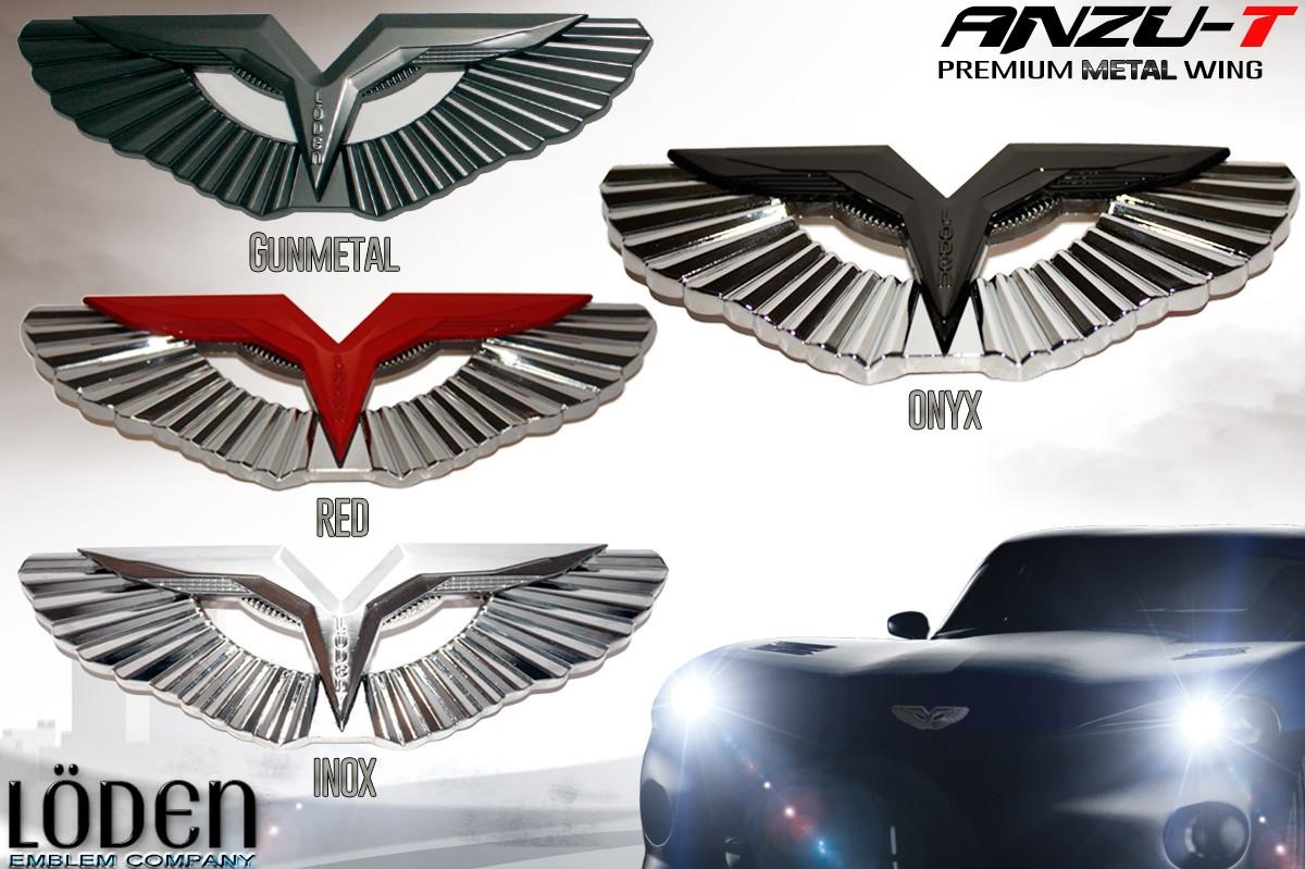 2011 2017 Ford Fiesta Loden T Wing Badge Emblem Hood Trunk Caps