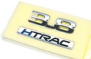 "2017+ Genesis G80 ""3.8 HTRAC"" OEM Chrome Letter Emblem"