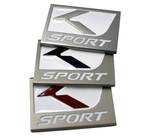 Lexus Fsport style Ksport badges for Kia/Hyundai models