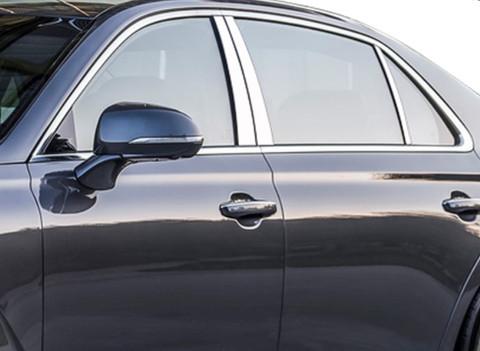 Genesis G90 Stainless Steel Chrome Door Pillar Post Set 6pc
