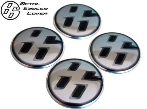 86 Brushed METAL Wheel Cap Emblem Set Scion FRS Subaru BRZ Toyota GT86