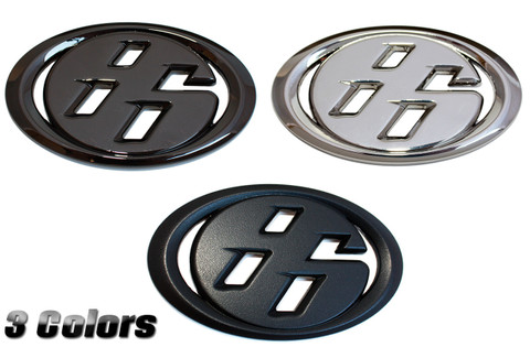 """Solid Metal """"86"""" Badge for the Toyota GT GT86 Scion FRS Subaru BRZ 86 Badge replacement Chrome Black-Chrome Matte Black Satin Silver or Gold color 2012 2013 2014 2015 2016 2017 2018 2019"""