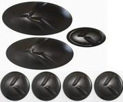 LODEN K BLACK METAL SKIN Emblem Badge Logo Grill/Trunk/Steering