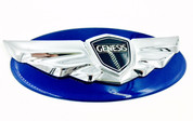 Genesis Coupe NHA blue Sapphire pearl custom painted base emblem genuine genesis wing badge color match badge for genesis coupe