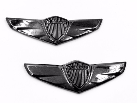 CONCEPT WING black chrome Fender emblems /Accent Wing Set 2pc for Genesis Sedan/Coupe/G70/G80/G90 Vision G style genesis wings