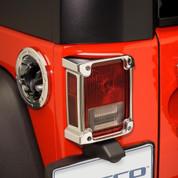Jeep Wrangler Chrome taillight trim cover set 2pc LH/RH putco vmaxx 2007 2008 2009 2010 2011 2012 2013 2014 2015 2016