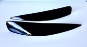 (USA WAREHOUSE CLEARANCE) Lacetti / Reno Airrock Headlight Upper Eyelids Eyelines Set 2pc BLACK COLOR (FREE SHIPPING