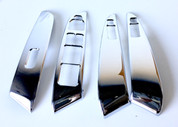 (USA WAREHOUSE CLEARANCE) 2010-2015 Tucson IX Chrome Interior Door Control Cover Set 4pc (FREE SHIPPING)