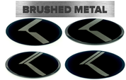 "*LIMITED EDITION* BRUSHED-BLACK ""K"" Badges (Lexus Style or Vintage) Emblem for Kia"