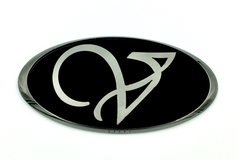 LODEN Veloster V VT cursive fancy V emblem badge front rear grill trunk black black-chrome emblem for Veloster 2011 2013 2014 2015 2016 2017
