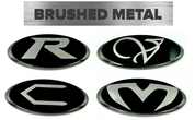 "*LIMITED EDITION* BRUSHED-BLACK ""RVCM""  BADGES EMBLEM FOR KIA MODELS"