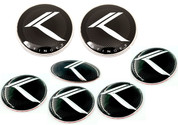 STINGER FULL Vintage K Emblem Package 7pc Front/Rear Badge Steering Emblem Wheel Caps