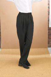 Ladies Pleated Dress Pant - Black