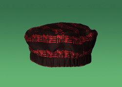 -Black Red 100% Cotton Utensil Pattern