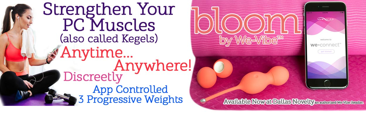 Have fun exploring a new way to do your Kegel exercises with the We-Vibe Bloom 10-Function App-Controlled Rechargeable Vibrating Kegel Balls available from Dallas Novelty, an Authorized Retailer.