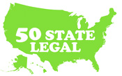 50 state legal USA Map