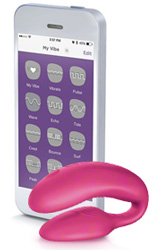 pink wevibe 4 plus iphone app modes screen