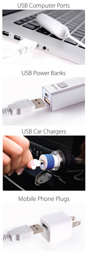 isex usb plug options
