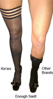 kix'ies thigh high tights versus the competition