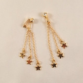 Sylvie Monthule Women's Gold Shooting Star Chains with Non-piercing Crystal Gem Labia Clips