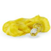 Crystal Delights Crystal Minx Lemon Yellow Detachable Faux Pony Tail Clear Plug Short Stem Small Bulb