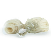 Crystal Delights Crystal Minx Blond Detachable Faux Pony Tail Clear Plug Short Stem Small Bulb