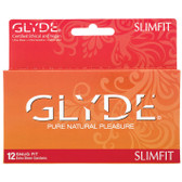 Glyde SlimFit Ultra Sheer Lubricated 49mm Snug Fit Condoms 12 Pack