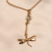 Sylvie Monthule Women's Gold Waist Chain Dragonfly with Clear Crystal Gem