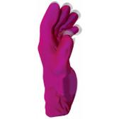 Fukuoku Five Fingers Vibrating Massage Glove Left Small Pink
