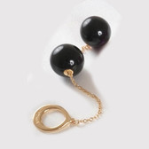 Sylvie Monthule Gold Loop with Black Insertable Double Geisha Balls
