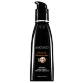 Wicked Sensual Care Aqua Cinnamon Bun Flavored Water-based Lubricant 4 oz