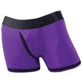 SpareParts Tomboi Boxer Briefs Strap-On Harness Purple & Black