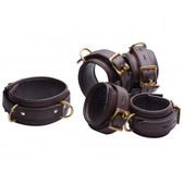 Strict Leather Brown 5-Piece Locking Leather Bondage Set