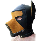 StockRoom Two-Toned Leather Dog Hood