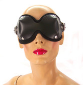 Axovus Black Leather Ultimate Blindfold with Neoprene Lining