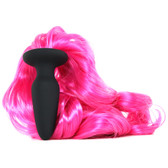 Buy Unicorn Tails Silicone Butt Plug with Pink Tail - NS Novelties