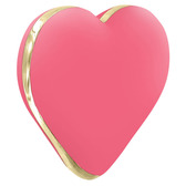 Rianne S Heart Rechargeable 10-function Massager Coral Rose