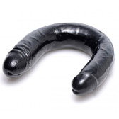 SexFlesh Realistic 17.5 inch Double Dong Black