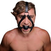Strict Faux Leather Head Harness with Ball Gag