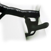 Buy the Zoro 5.5 inch Hollow Unisex Jock-Style Strap-On Black - Perfect Fit Brand