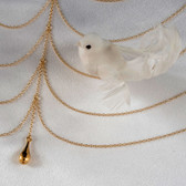 Sylvie Monthule Women's Gold Draping Breast Chains Necklace with Pendant