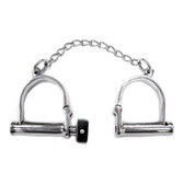 Rouge Garments Locking Stainless Steel Wrist Shackles