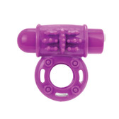 Screaming O Charged oWow 10-FUNction Rechargeable Silicone Ring Vibe Grape
