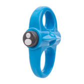 Screaming O Charged Yoga 10-FUNction Rechargeable Silicone Ring Vibe Blue