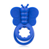 Screaming O Monarch 4-function Wearable Butterfly Vibe & Love Ring Blue