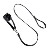 Strict Faux Leather Adjustable Ball Stretcher With Leash