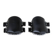 Buy Premium Black Leather Knee Pads with Adjustable Straps - StockRoom