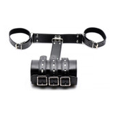 XR Brands Strict Faux Leather Locking Arm Binder Restraint System