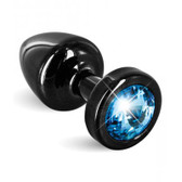 Buy Anni Black T1 Blue Cristal 25mm Aluminum Butt Plug - Diogol