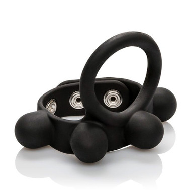 Buy the Large Weighted Silicone C-Ring Cockring Ball Stretcher - Cal Exotics